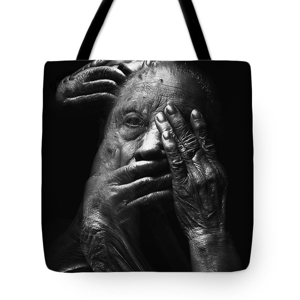 Tote Bag featuring the digital art See No Evil Hear No Evil Speak No Evil by ISAW Company