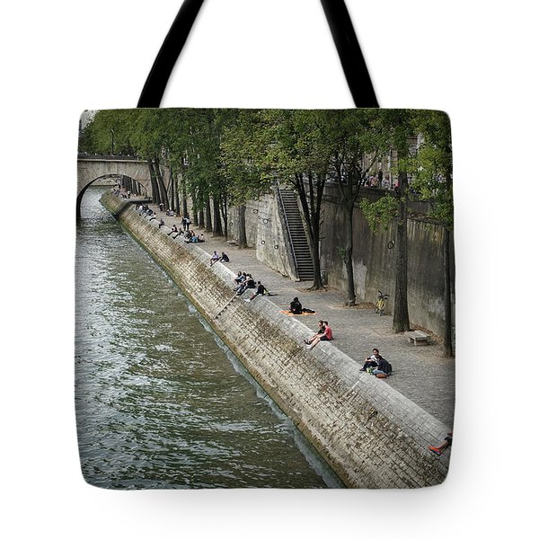 Tote Bag featuring the photograph Seine by Jim Mathis