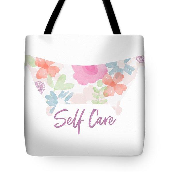 Self Care- Art By Linda Woods Tote Bag