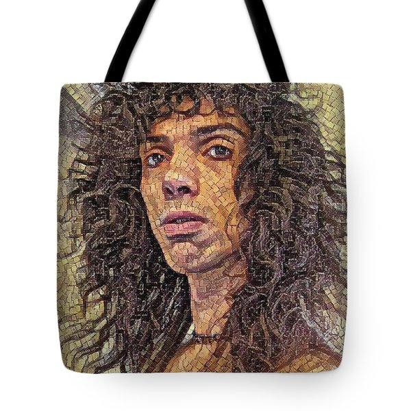 Self Portrait - The Shawn Mosaic - 80s Glam Rock Tote Bag