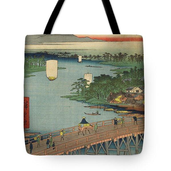Senju Great Bridge, 19th Century Tote Bag