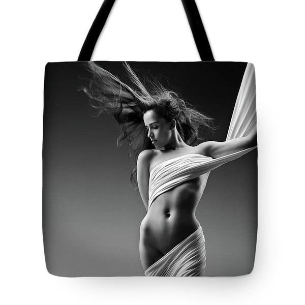 Sensual Woman In Cloth Tote Bag