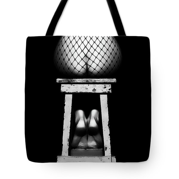 Sensual Woman Sitting Rear View Tote Bag