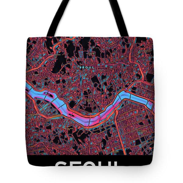 Seoul City Map Tote Bag