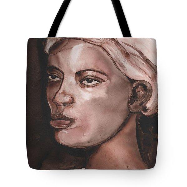 Sepia Woman Tote Bag