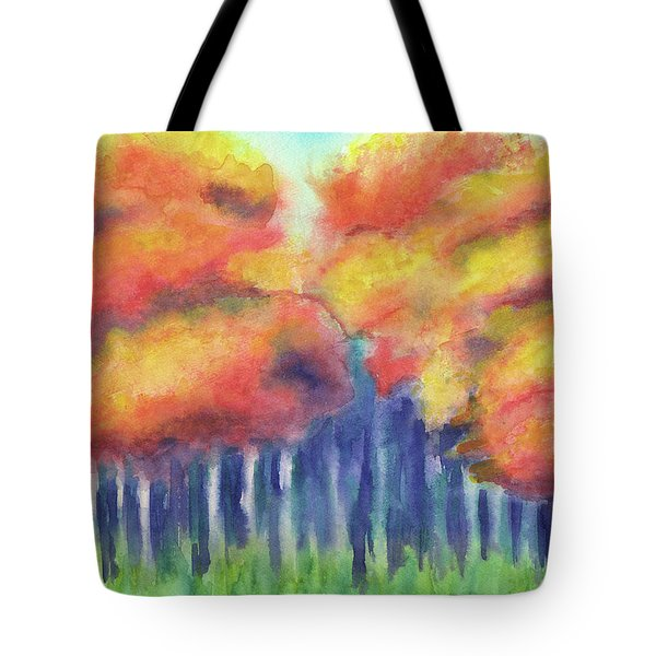 Tote Bag featuring the painting September 2018 by Betsy Hackett