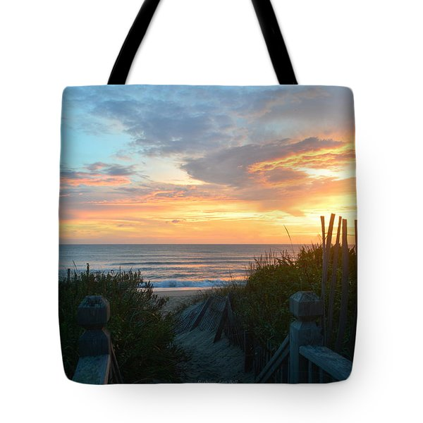Tote Bag featuring the photograph September 28, 2018 Sunrise Nh  by Barbara Ann Bell