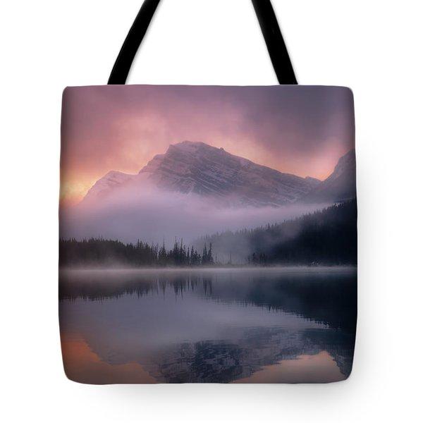 September Sunrise Banff Tote Bag