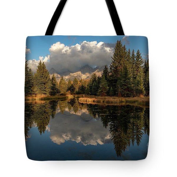 Serene At Schwabachers Landing Tote Bag