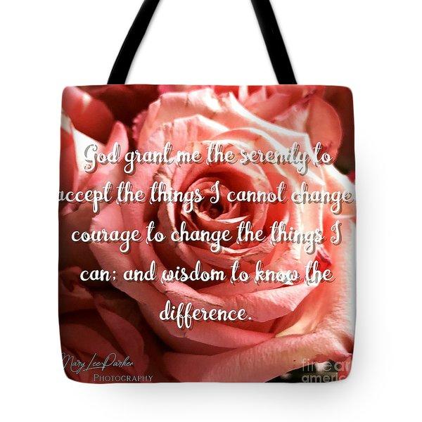 Serenity Prayer II Tote Bag