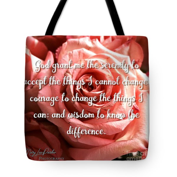 Serenity Prayer II Tote Bag