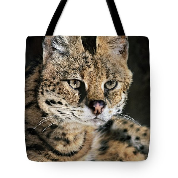 Serval Portrait Wildlife Rescue Tote Bag