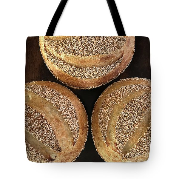 Sesame Seed Stripes 3 Tote Bag