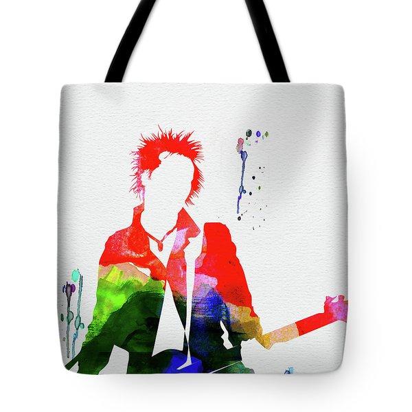 Sex Pistols Watercolor Tote Bag