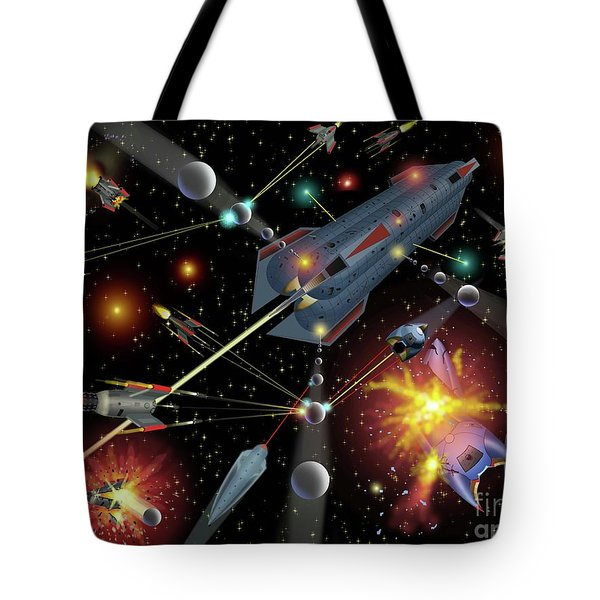 Sferogyls Space Battle Group Tote Bag