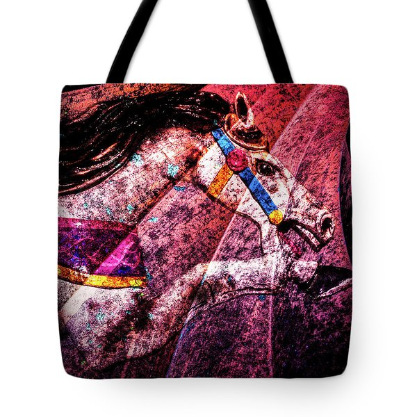 Tote Bag featuring the photograph Shades Of Antique Carousel by Michael Arend