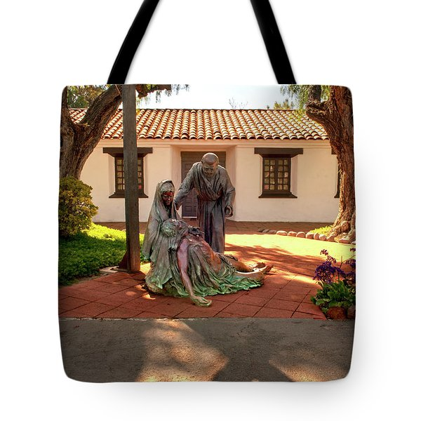 Shadow Of The Cross Tote Bag