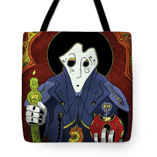 Tote Bag featuring the painting Shadow Priest by Sotuland Art