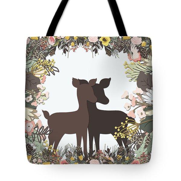 Shadowbox Deer Tote Bag