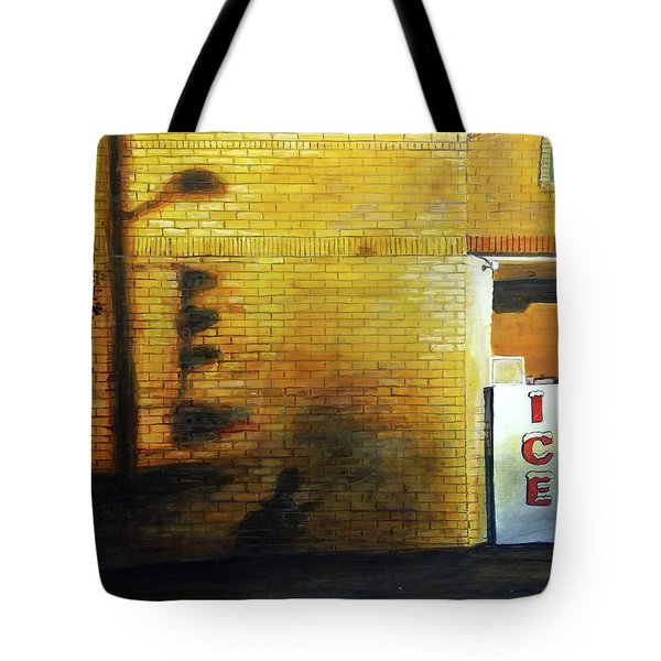 Tote Bag featuring the painting Shadows On The Wall by William Brody