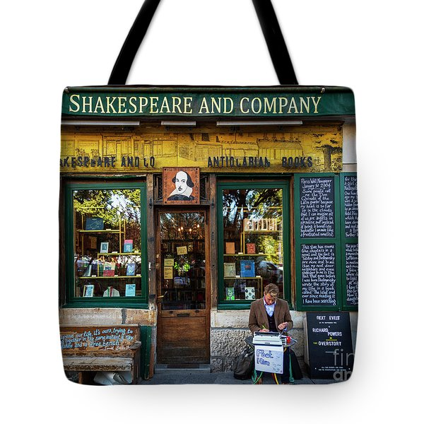 Shakespeare And Company Bookstore Tote Bag
