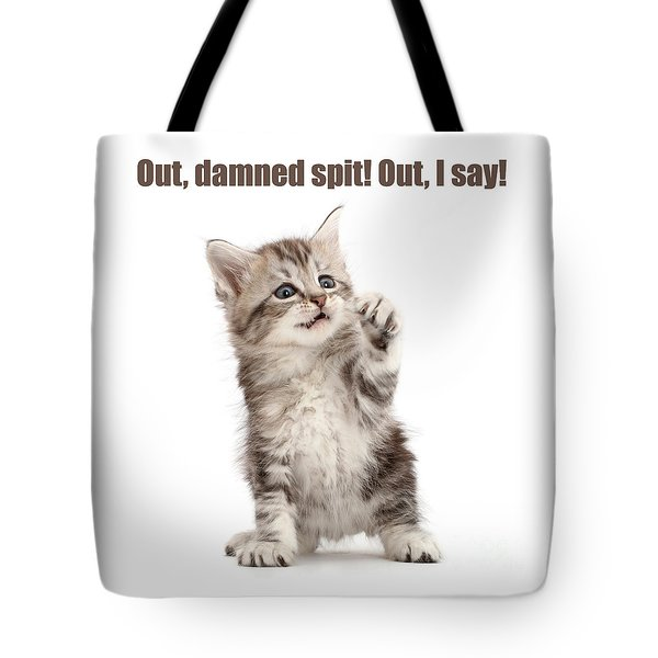 Tote Bag featuring the photograph Shakespurr Lady Macfluff by Warren Photographic