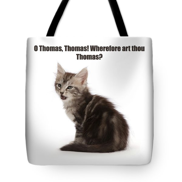 Tote Bag featuring the photograph Shakespurr Thomas And Juliet by Warren Photographic
