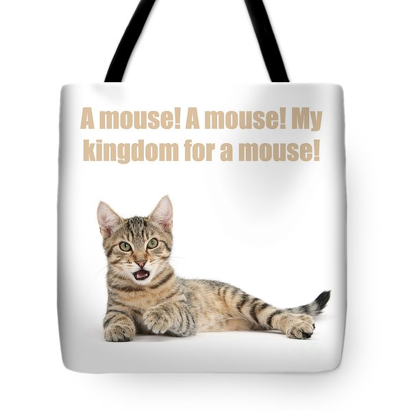 Tote Bag featuring the photograph Shakespurr Thomas The Third by Warren Photographic