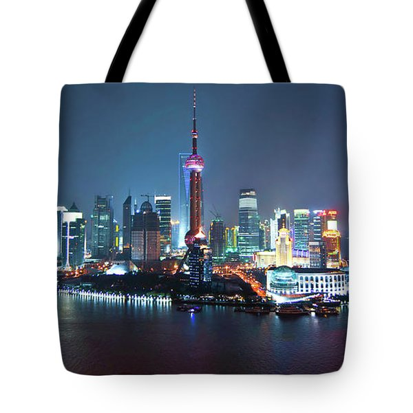 Shanghai Panorama Tote Bag