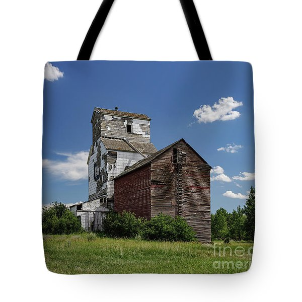 Tote Bag featuring the photograph Sharples Elevator by Brad Allen Fine Art
