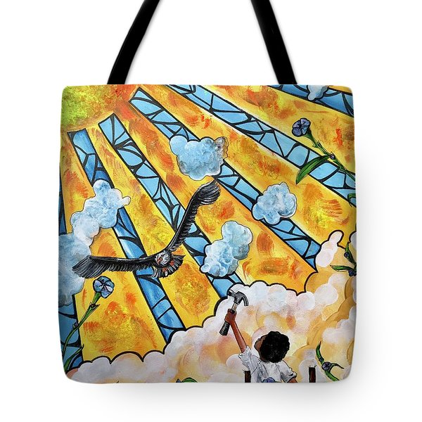 Shattered Skies Tote Bag