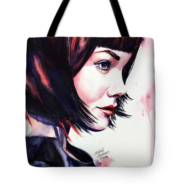 Tote Bag featuring the painting She Knew by Michal Madison