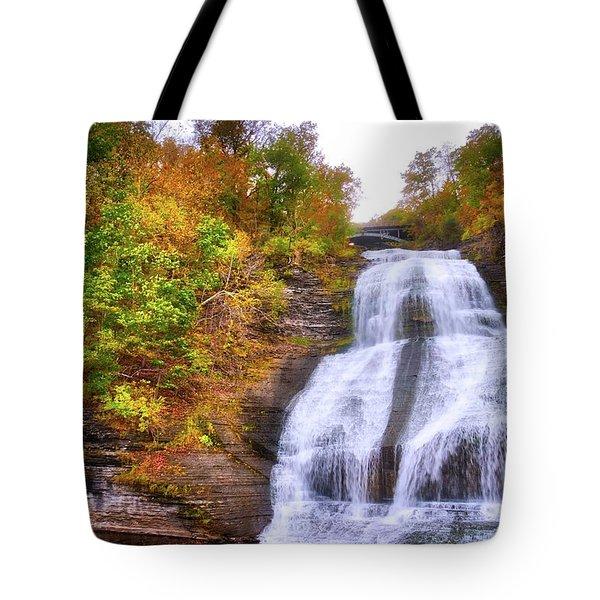 Tote Bag featuring the photograph She-qua-ga - Montour Falls - Finger Lakes, New York by Lynn Bauer