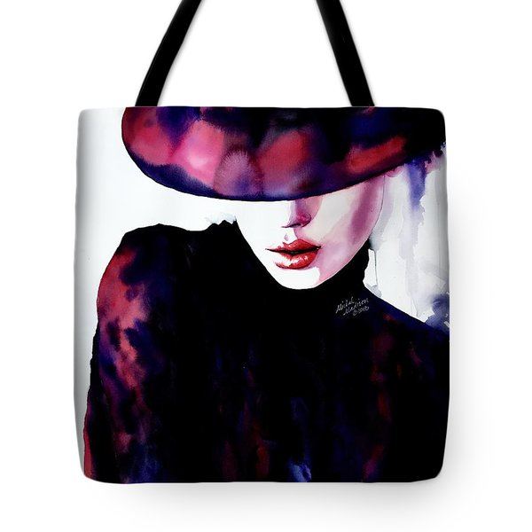 Tote Bag featuring the painting She Remembered by Michal Madison