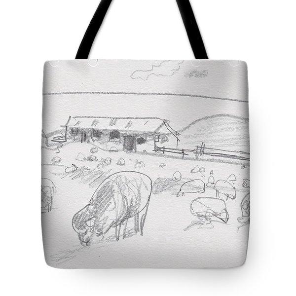 Sheep On Chatham Island, New Zealand Tote Bag