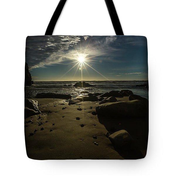 Shell Beach Sunburst Tote Bag