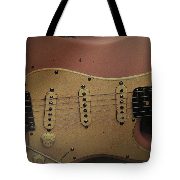 Shelly Pink Guitar Tote Bag