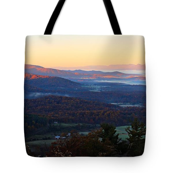 Tote Bag featuring the photograph Shenandoah Mountains by Candice Trimble