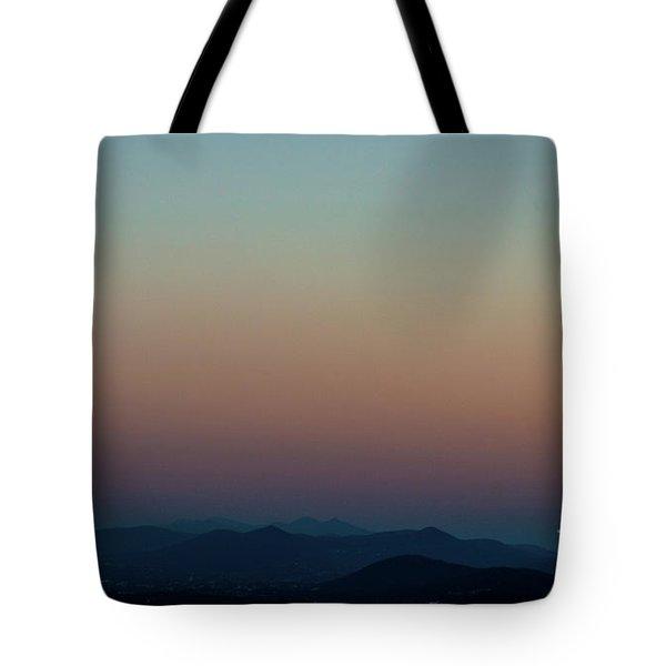 Sherbert Sunset Over The Blue Ridge Mountains Tote Bag