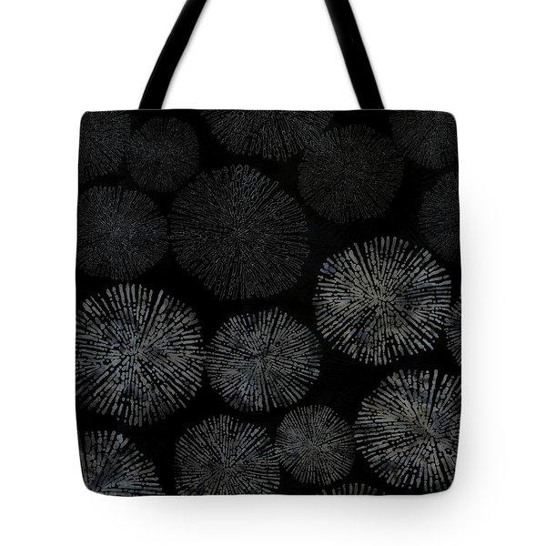 Shibori Sea Urchin Burst Pattern Tote Bag