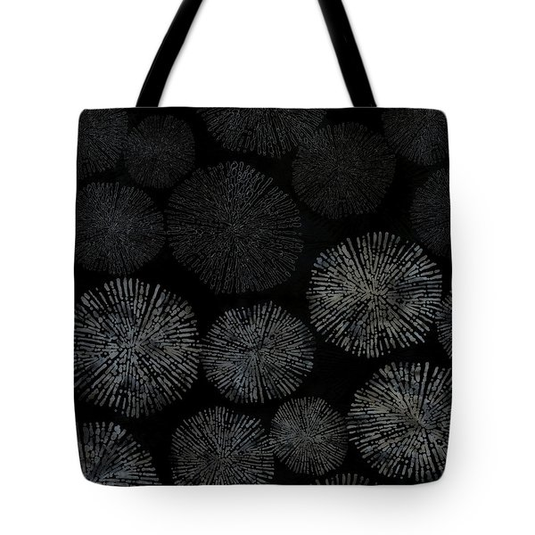 Shibori Sea Urchin Burst Pattern Tote Bag