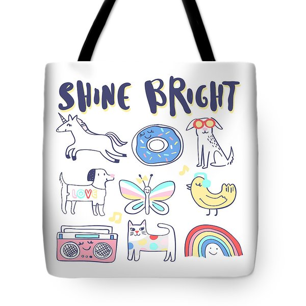 Shine Bright - Baby Room Nursery Art Poster Print Tote Bag