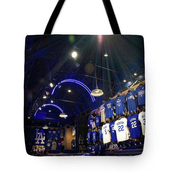Tote Bag featuring the photograph Shine On Dodger Blue by Lynn Bauer