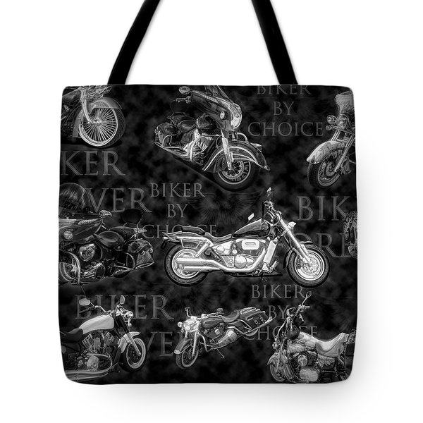 Shiny Bikes Galore In Black And White Tote Bag