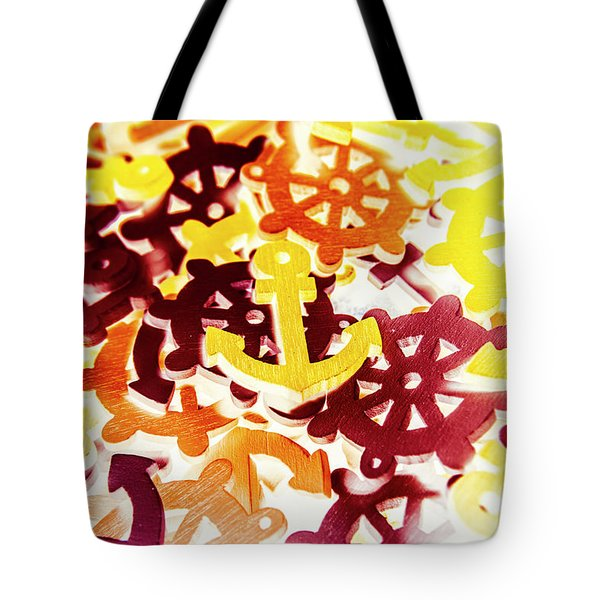 Ship Shapes And Ocean Ornaments Tote Bag