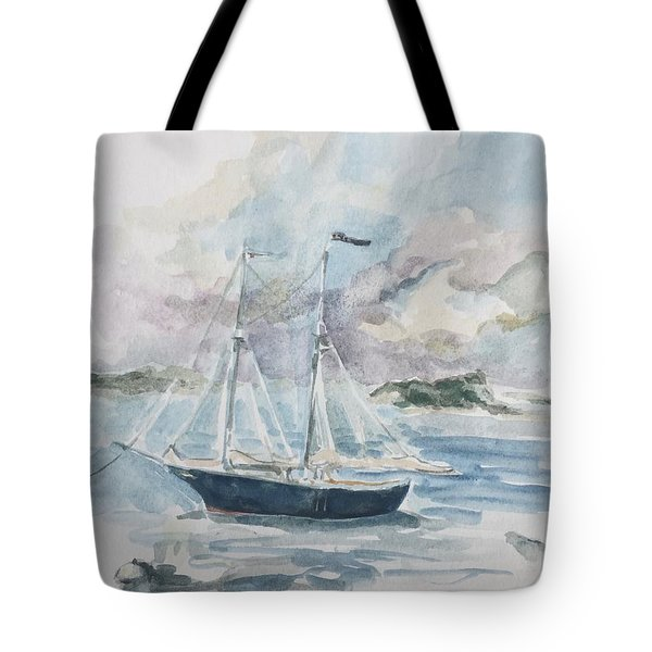 Ship Sketch Tote Bag