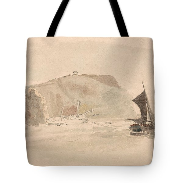 Shipwreck Off The Needles, Isle Of Wight Tote Bag