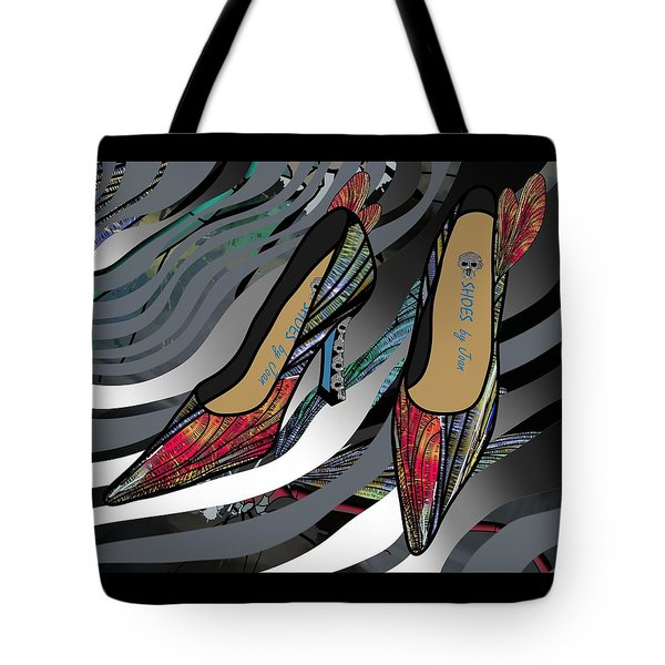 Shoes By Joan - Dragon Fly Wing Pumps Tote Bag
