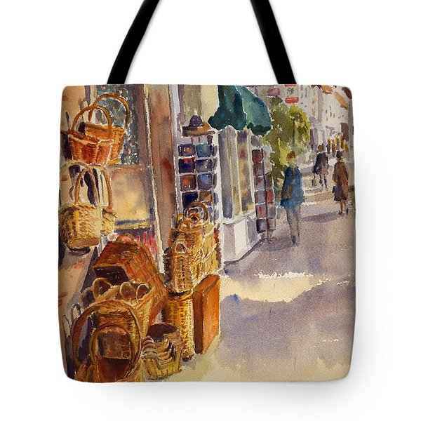 Shopping In Tenterden England Tote Bag