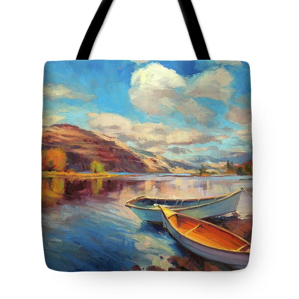 Tote Bag featuring the painting Shore Leave by Steve Henderson